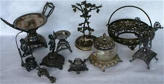 158: COLLECTION OF MISC. VICTORIAN SILVER PLATED