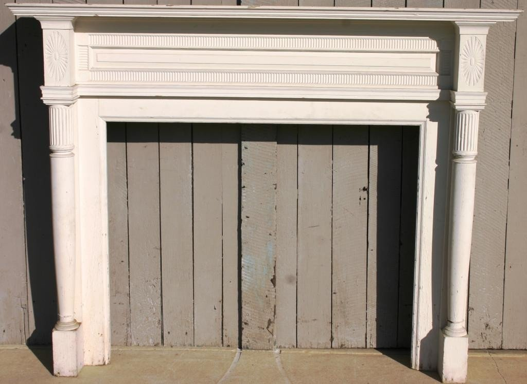 5: PAINTED PINE COLONIAL STYLE MANTEL,