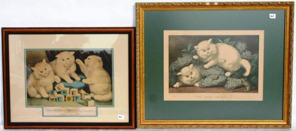 32: TWO FRAMED & GLAZED LITHOGRAPHS,