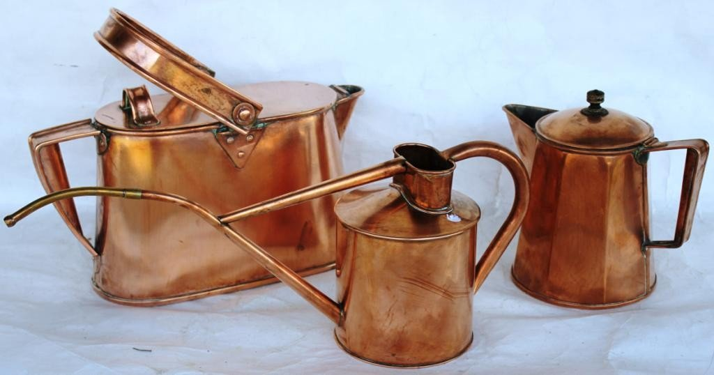 1: 3 PCS. OF COPPER TO INCLUDE, SWING HANDLE POT,