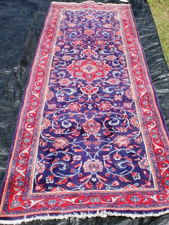 """93A: ORIENTAL RUG, 3' 7 X 9' 8"""", FLORAL PERSIAN"""""""