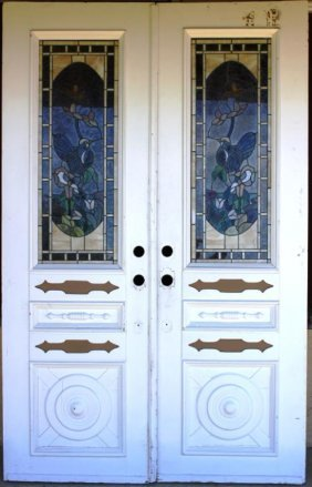 PAIR OF VICTORIAN STYLE DOORS, WITH
