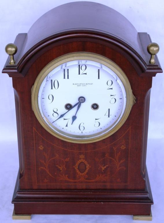 121: INLAID MAHOGANY BRACKET CLOCK,