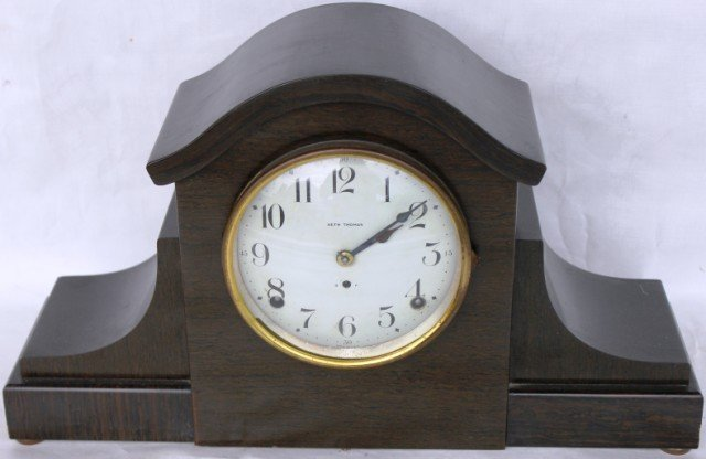 9: SETH THOMAS MANTLE CLOCK, TIME & STRIKE