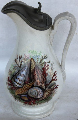 1A: 19TH C. IRONSTONE SYRUP PITCHER,