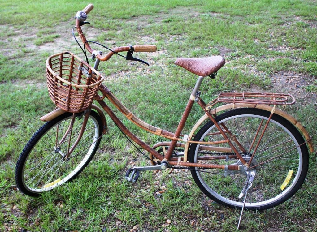 2: BAMBOO & WICKER WRAPPED BICYCLE,