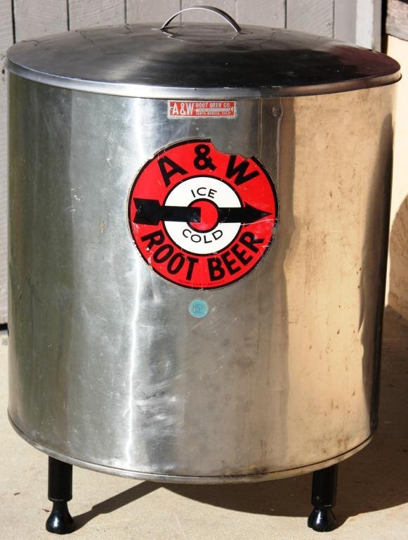 1: STAINLESS A&W ROOT BEER COOLER,
