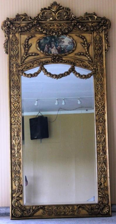 20: LARGE MID 20TH C. FRENCH STYLE MIRROR,