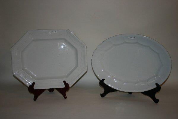 2: 2 19th c. Ironstone Platters