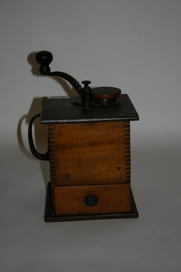 4: Late 19th c. Wooden Coffee Grinder