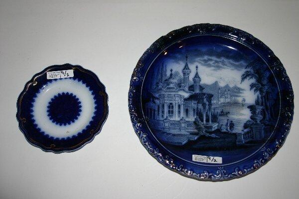 9: 2 Flow Blue Plates