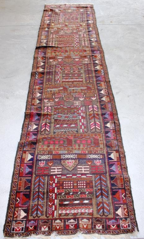 "2' 8"" X 12' UNUSUAL SEMI ANTIQUE REPEATING"