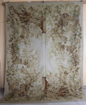 "RUG #370, 9' 3"" X 12' 4"", HAND KNOTTED TAPESTRY"