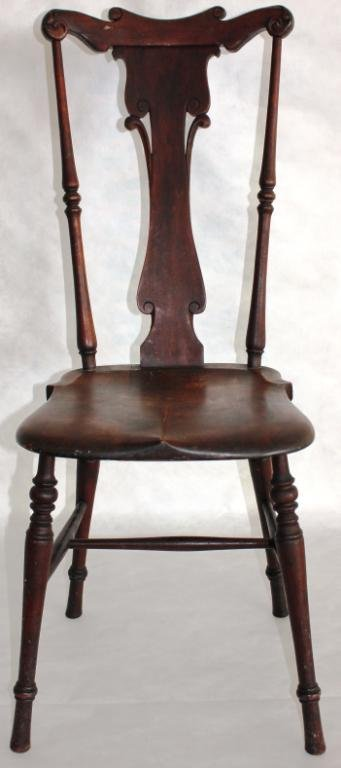 FANCY MAPLE DESK CHAIR, CIRCA 1910,