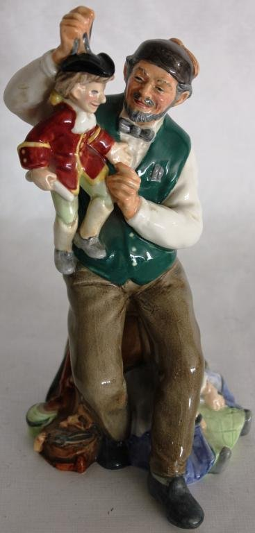 ROYAL DOULTON FIGURINE, THE PUPPET MAKER,