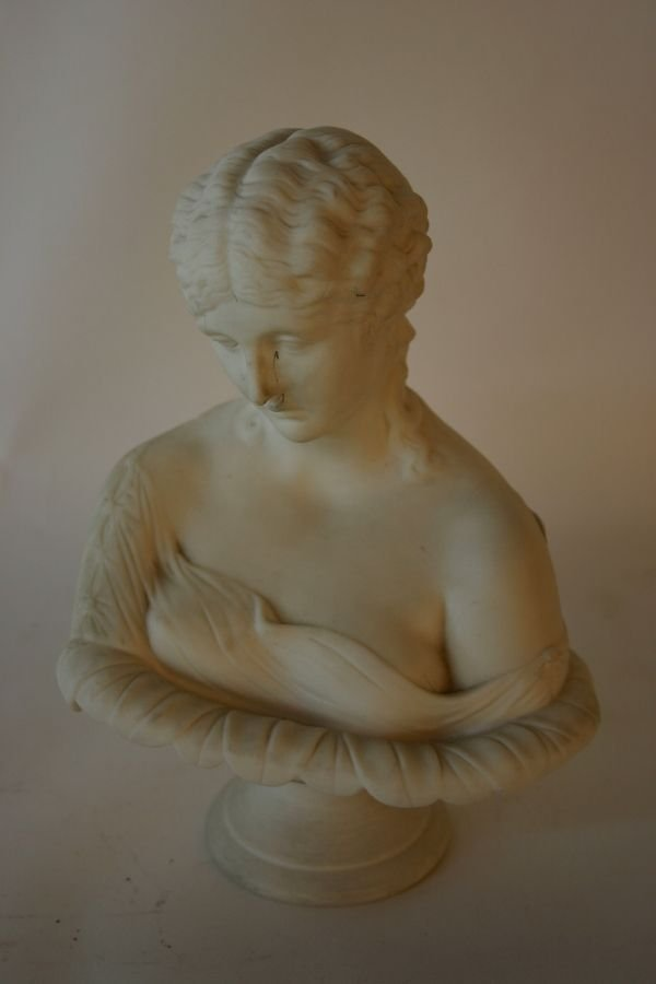 1011: 19th C. Parian Bust of a Woman