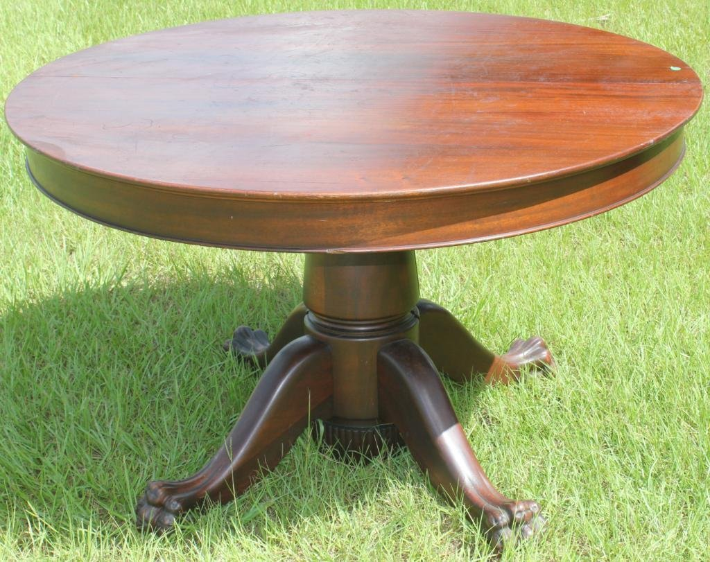 round mahogany claw foot dining table lot claw foot ped