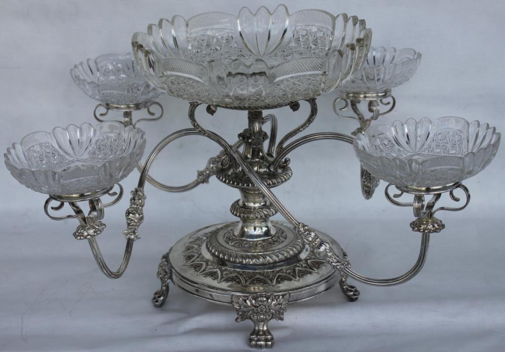 EXCEPTIONAL VICTORIAN SILVER PLATED SWEET MEAT