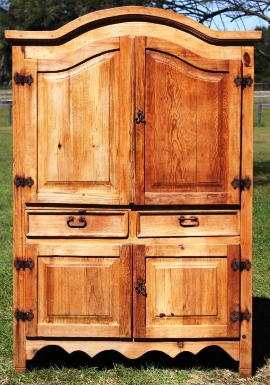 COUNTRY PINE ARMOIRE WITH OPEN BACK