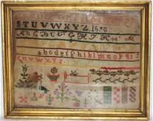 19TH C FRAMED  GLAZED SAMPLER DATED 1833