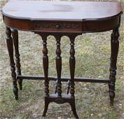 SMALL 1920s MAHOGANY CONSOLE TABLE WITH