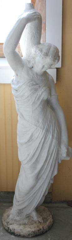 CAST CEMENT CLASSICAL STYLE FIGURE OF WOMAN