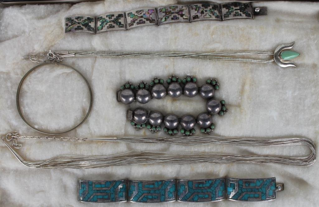 6 PCS. OF INDIAN & OTHER JEWELRY SOME