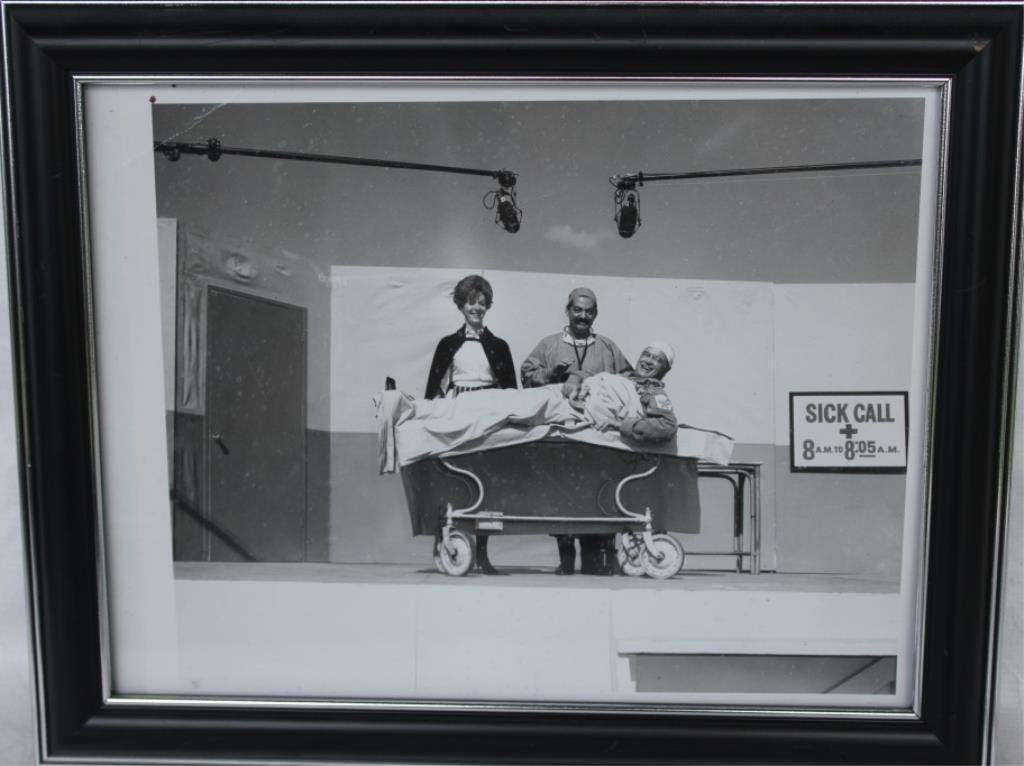 FRAMED & GLAZED PHOTOGRAPH OF KAYE STEVENS AND