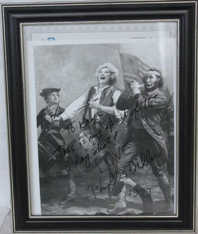 FRAMED PHOTOGRAPHIC PRINT OF PHYLLIS DILLER