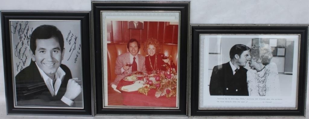 LOT OF 3 PHOTOGRAPHS OF KAYE STEVENS WITH