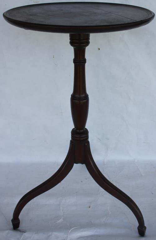 CUSTOM BENCH MADE MAHOGANY CANDLE STAND WITH