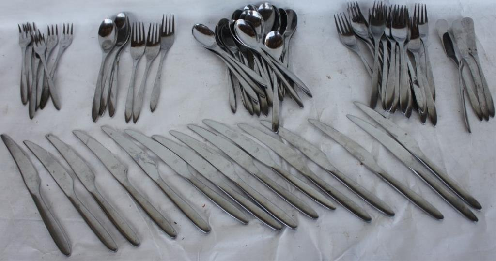 APPROX. 75 PCS. OF MID CENTURY STAINLESS STEEL