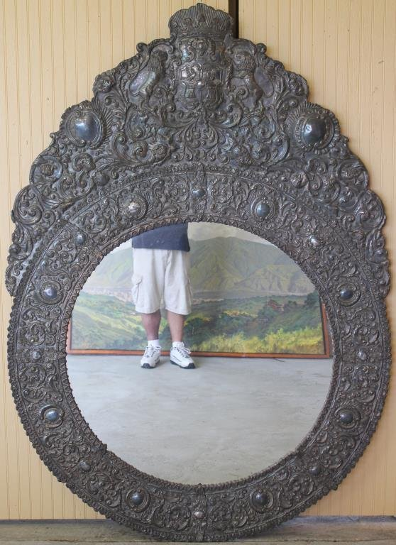LARGE EXCEPTIONAL SPANISH WALL MIRROR