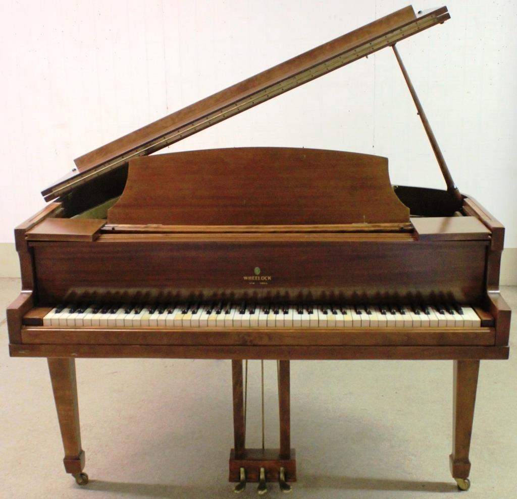 MAHOGANY BABY GRAND PIANO BY WHEELOCK, NY