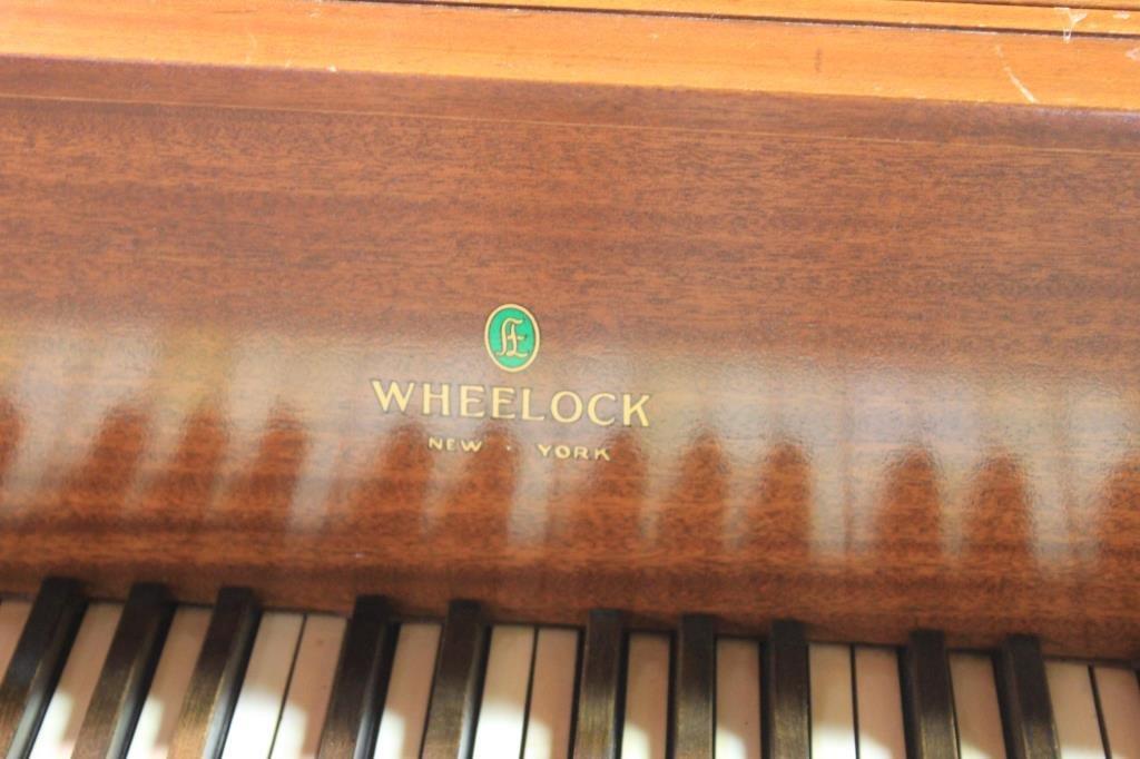 MAHOGANY BABY GRAND PIANO BY WHEELOCK, NY - 2