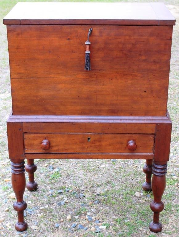 19TH C. CHERRY SUGAR CHEST, FROM
