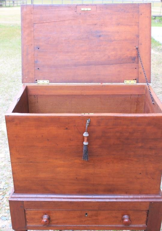 19TH C. CHERRY SUGAR CHEST, FROM - 4
