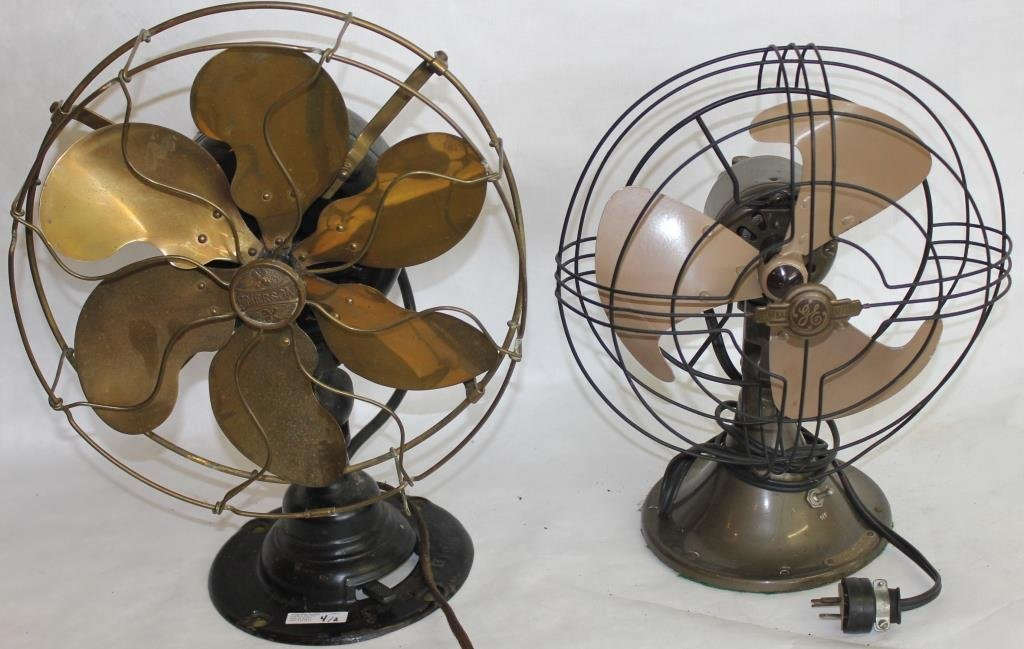 TWO ELECTRIC FANS, TO INCLUDE
