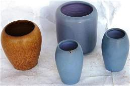 4 PCS OF MARBLE HEAD POTTERY TO INCLUDE