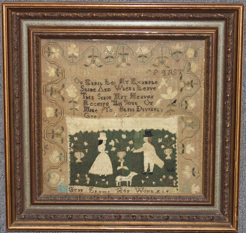 IMPORTANT EARLY 19TH C. MARBLEHEAD SAMPLER SCHOOL