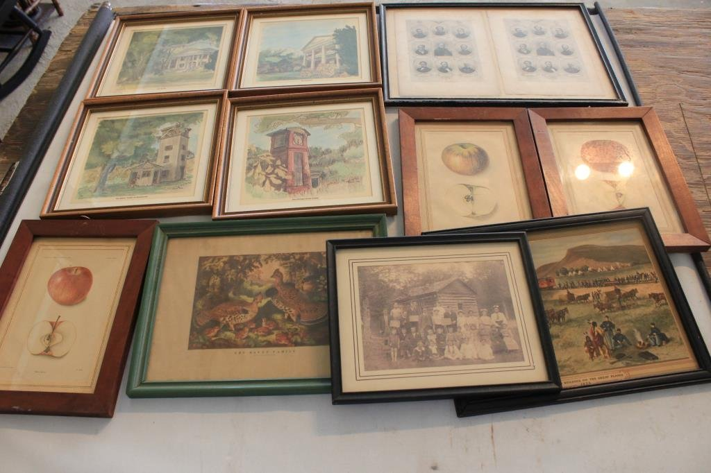 LOT OF 11 PRINTS AND PHOTOGRAPHS INC FRUIT