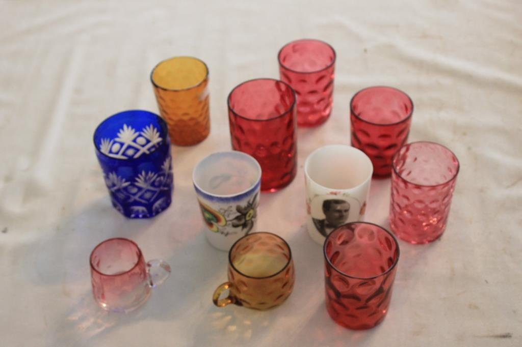 11 VICTORIAN TUMBLERS AND MUGS TO INC WJ BRYANT