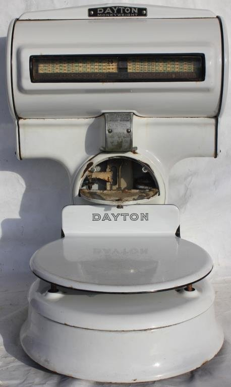 DAYTON WHITE ENAMELED, MONEY WEIGHT COUNTRY