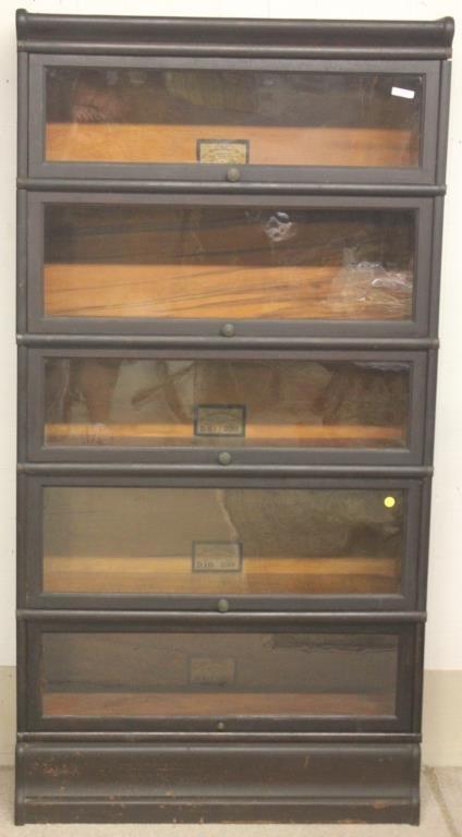 Oak 5 Stack Globe Wernicke Bookcase D 8 1 2 299