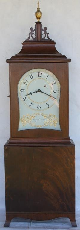 ELMER O. STENIS MASSACHUSETTS SHELF CLOCK