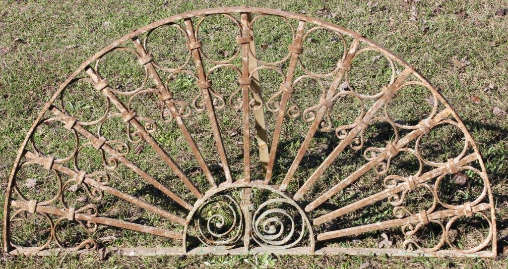 IRON ARCH TOP WINDOW GRATE,