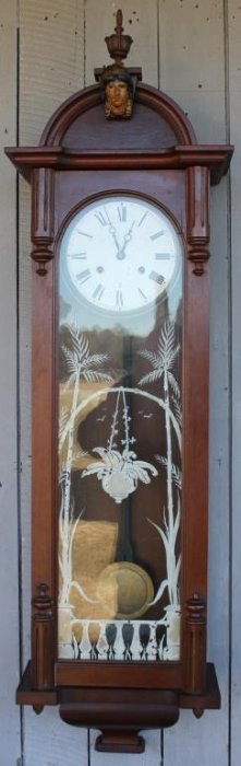 Victorian Walnut Long Drop Clock