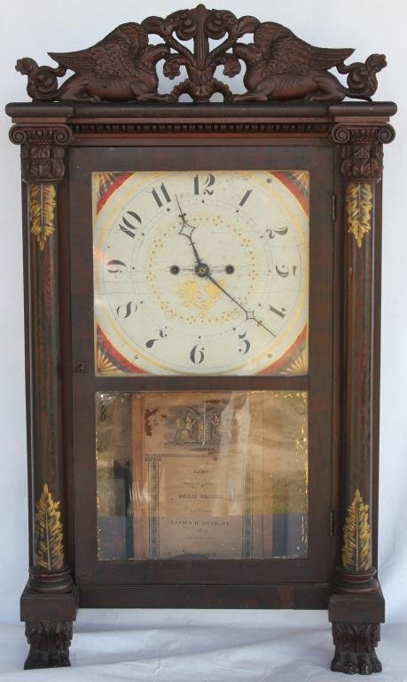RARE EARLY 19TH C. MANTLE CLOCK BY