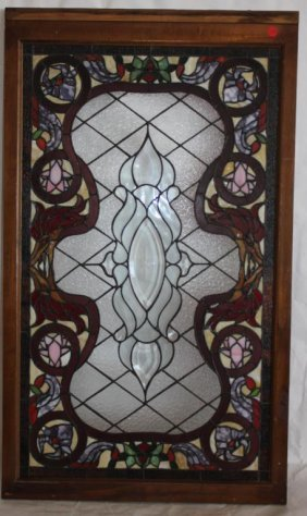 Contemporary Leaded Glass Window,