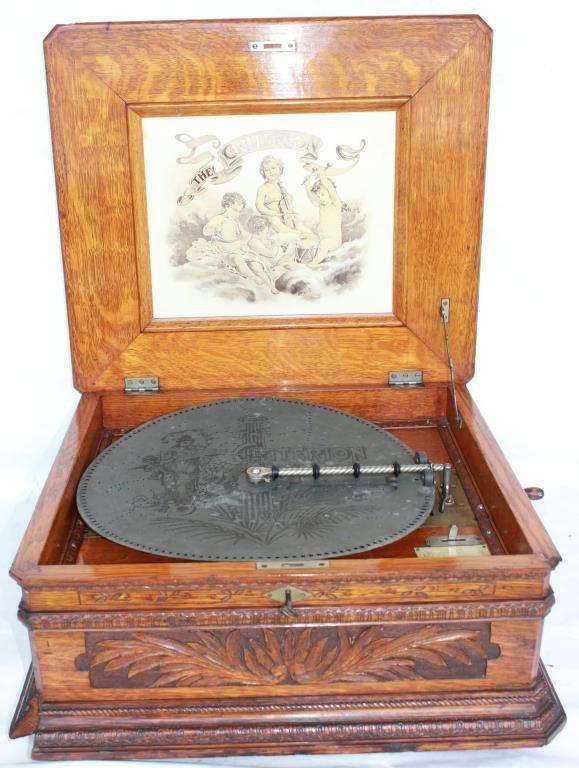 EXCEPTIONAL OAK CRITERION MUSIC BOX,